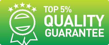 Top 5% Quality Guarantee