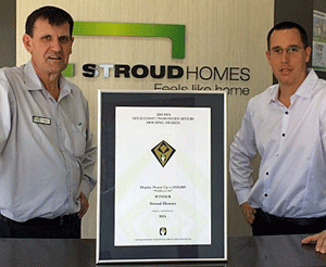 Stroud Homes' HIA Award for Wildflower Display Home