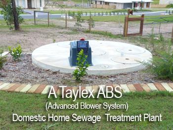 Domestic home sewage treatment plant