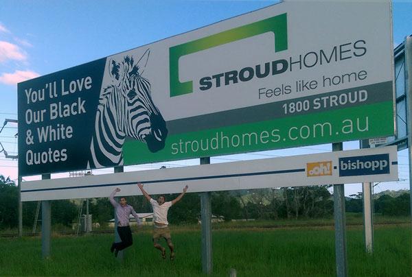 Stroud Homes Sunshine Coast Billboard