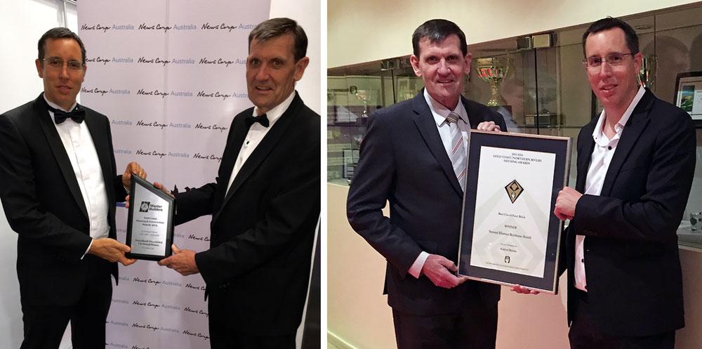 James Stroud Bryan Canavan receiving HIA QMBA award