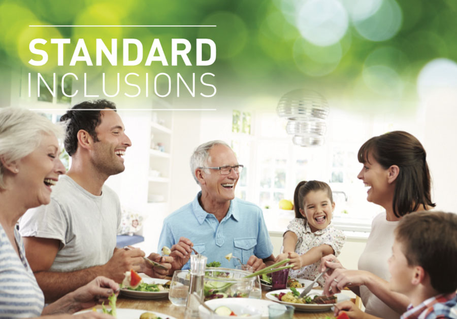 Standard home inclusions