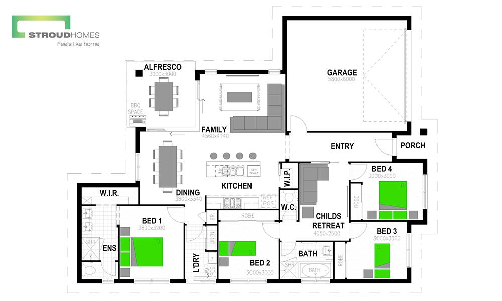 Brisbane_South_Home_Builder_Wildflower190_Adapted_Floor_plan