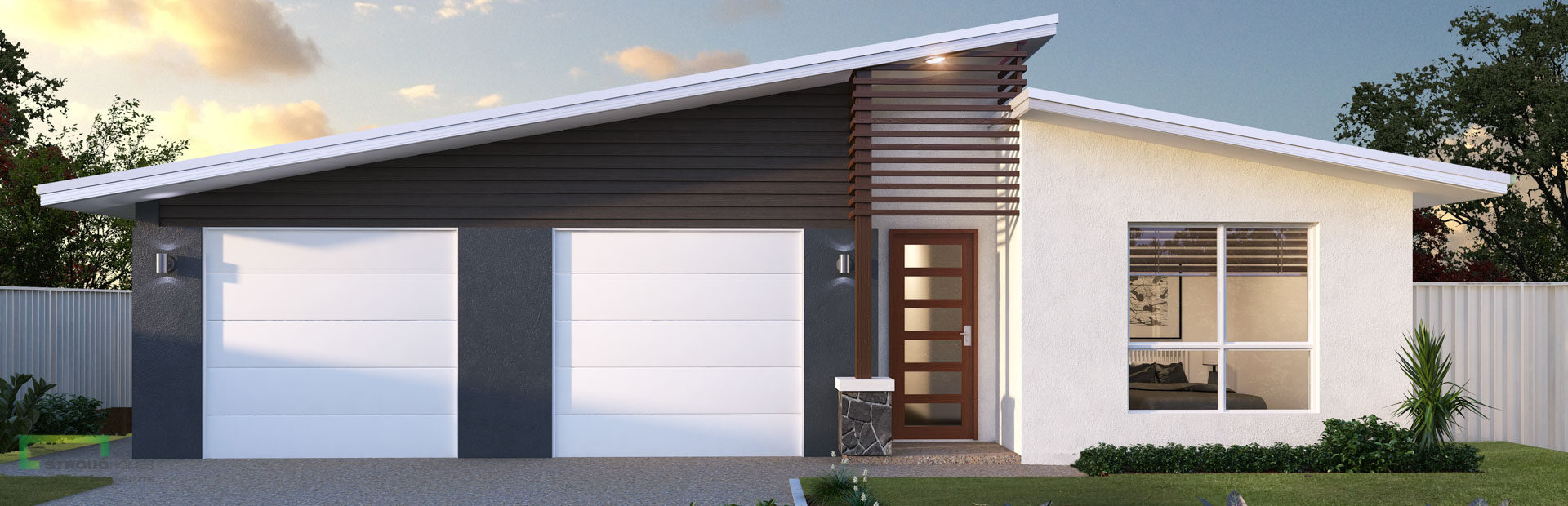 Chex duo 252 dual occupancy stroud homes for Dual occupancy home designs corner block