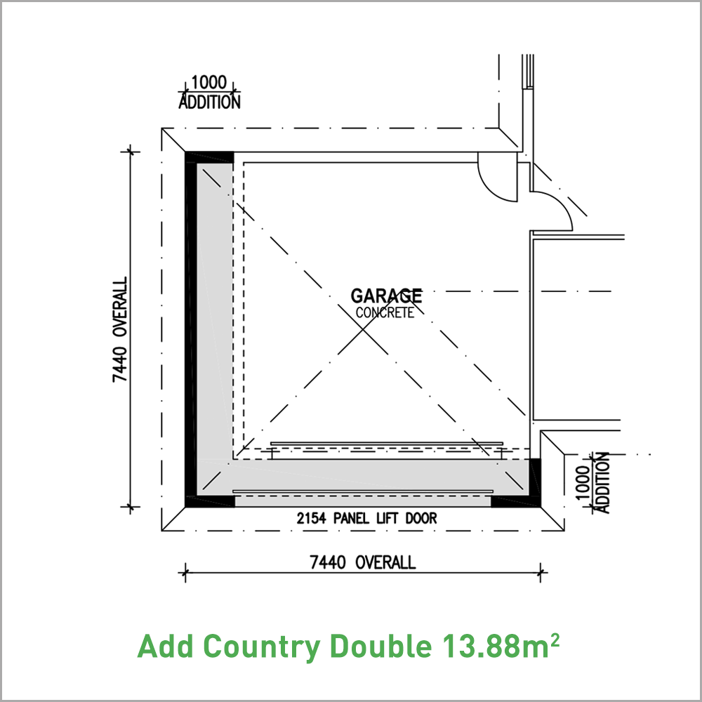 Country-Double-Garage-with-Awning-13.88m2