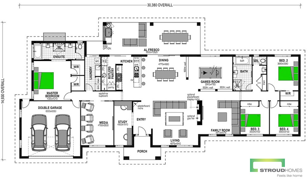Kentucky 348 - 4 Bedroom Floor-Plan