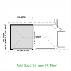 Horizontal Quad Garage Option