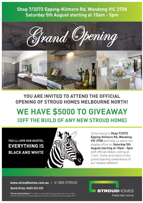 Melbourne North Grand Opening Flyer