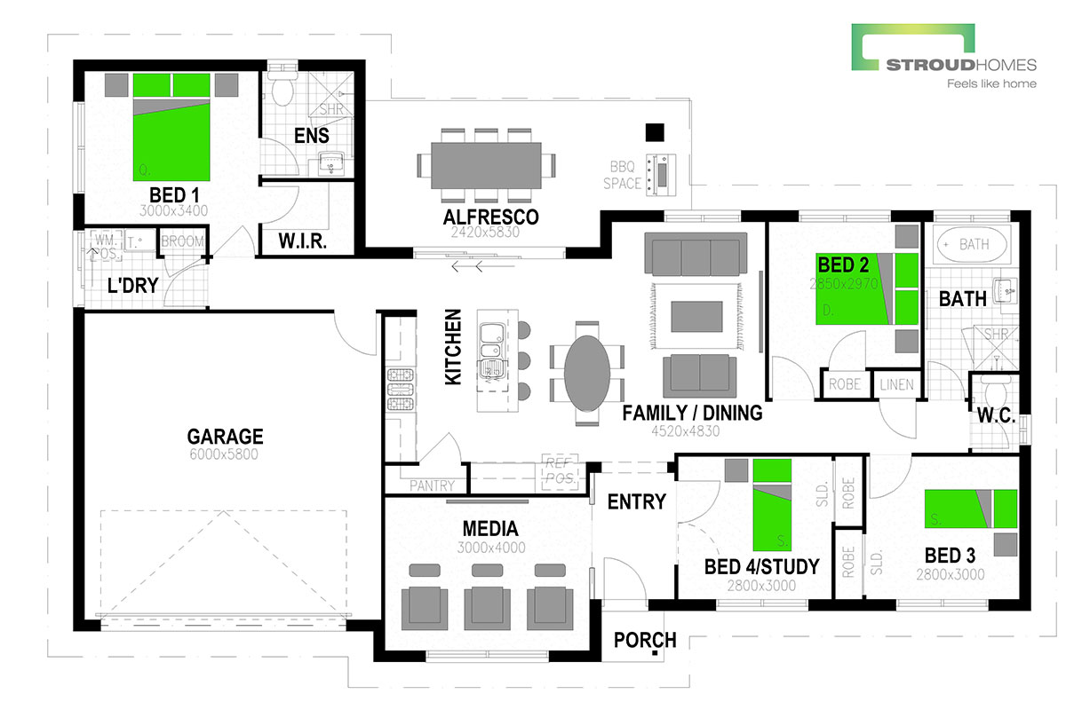 Beechmont 181 Floor Plan