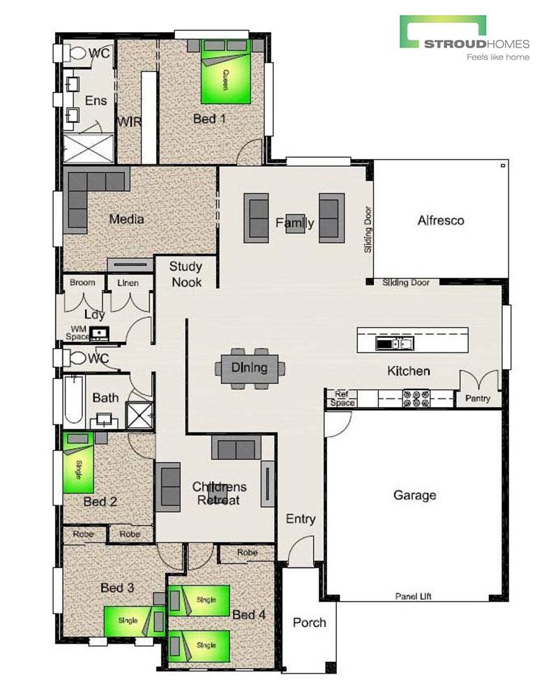 Highgrove 257 Floor Plan