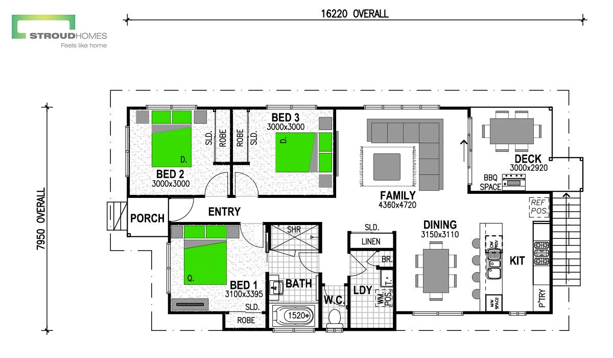 Hillcrest 110 Floor Plan