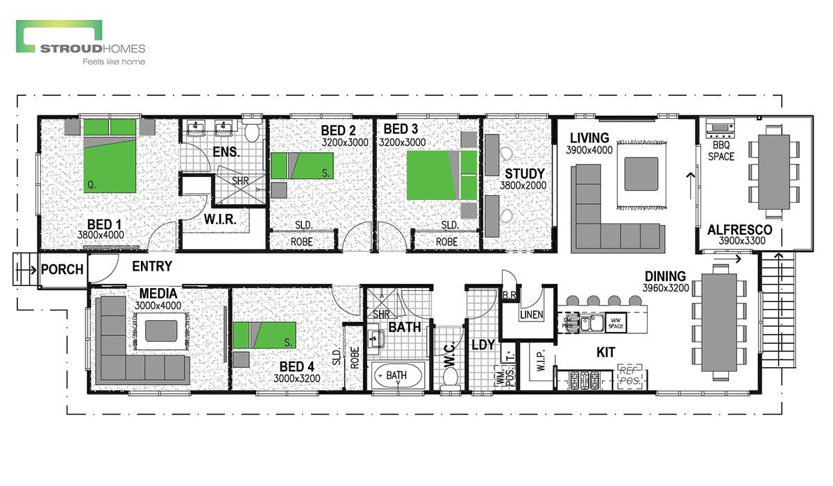 Hillcrest 168 Floor Plan