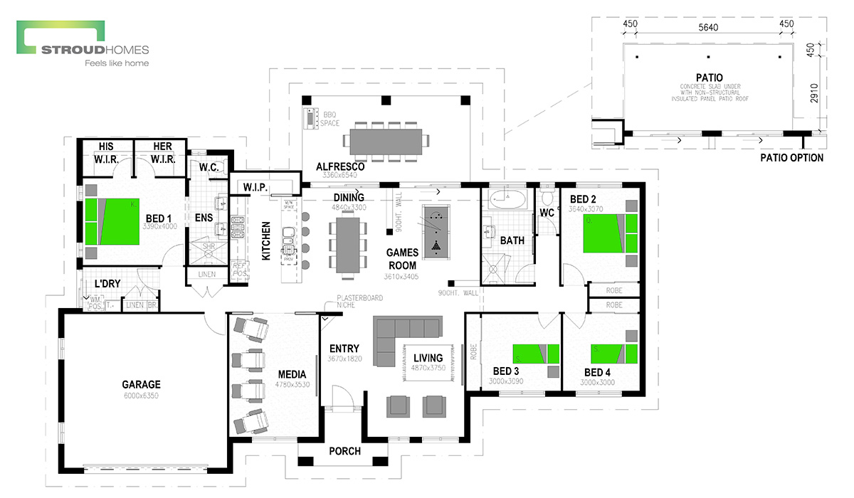 Kentucky 260 Floor Plan