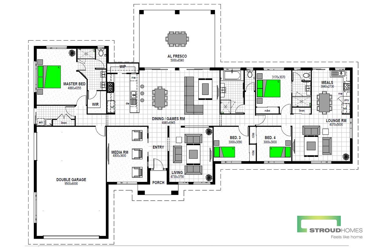 Kentucky 260 & Granny Flat Floor Plan