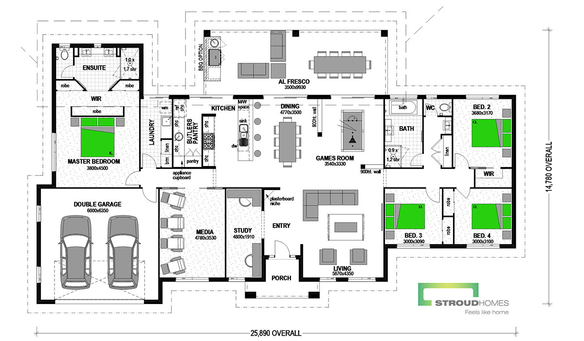 Kentucky 304 Floor Plan