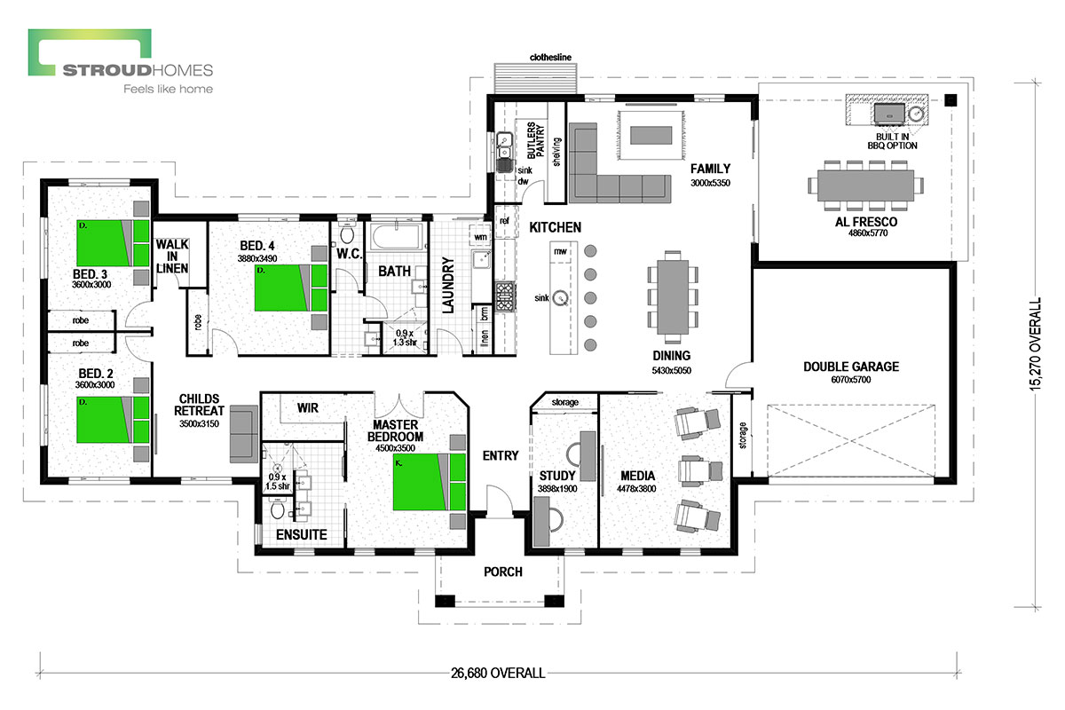 Oakleigh 300 Floor Plan