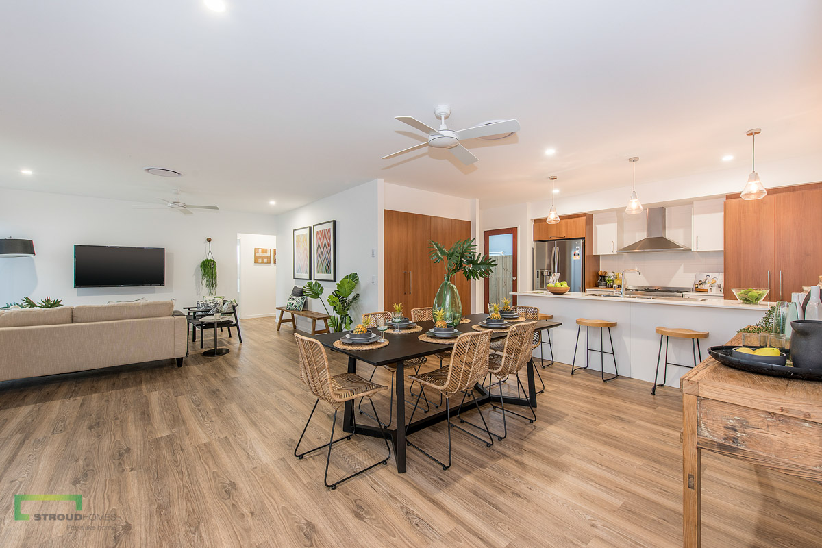 Alfred 190 Sunshine Coast Display open plan living and kitchen