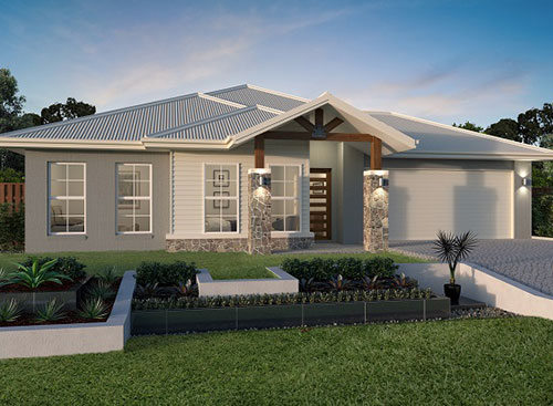 Stroud Homes Gold Coast Master Builders Association Awards for the Wildflower 300 Alpine Facade image