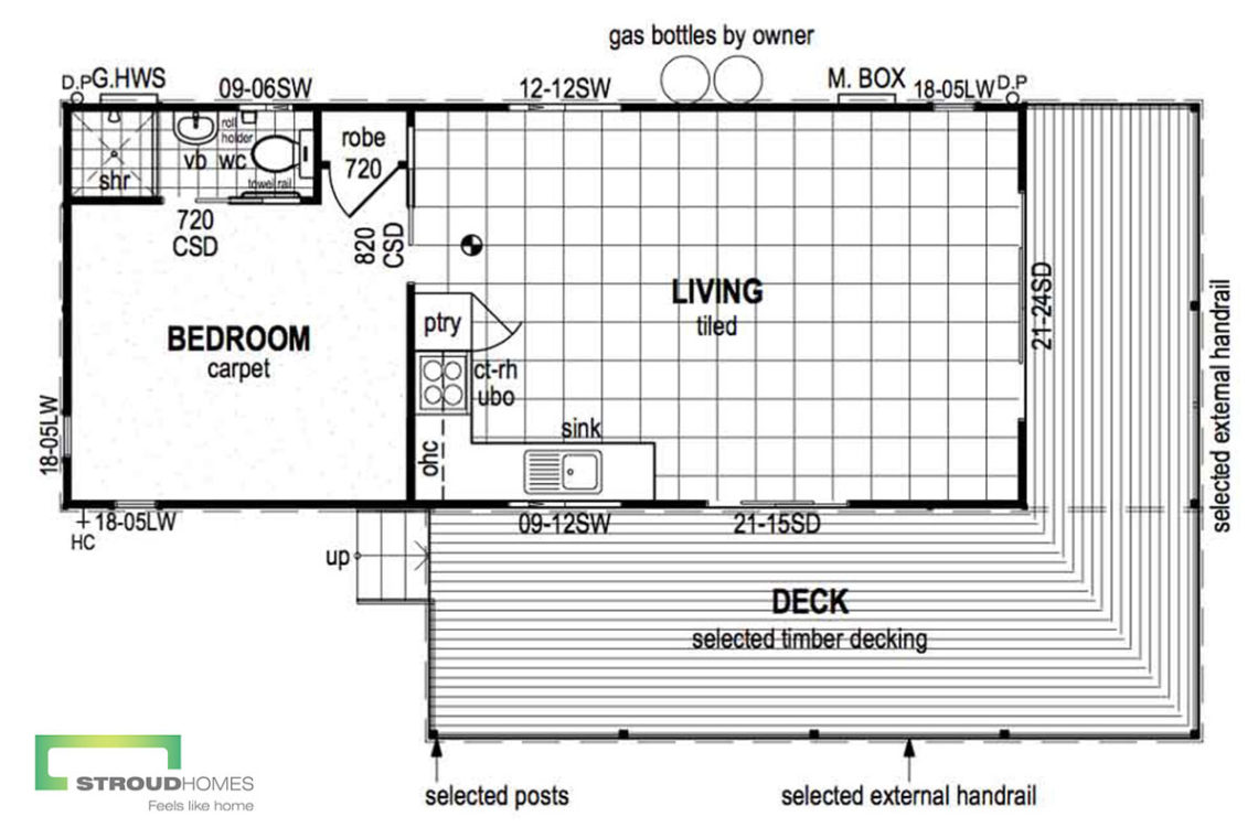 The Maroon Cottage Granny Flat Floor Plan