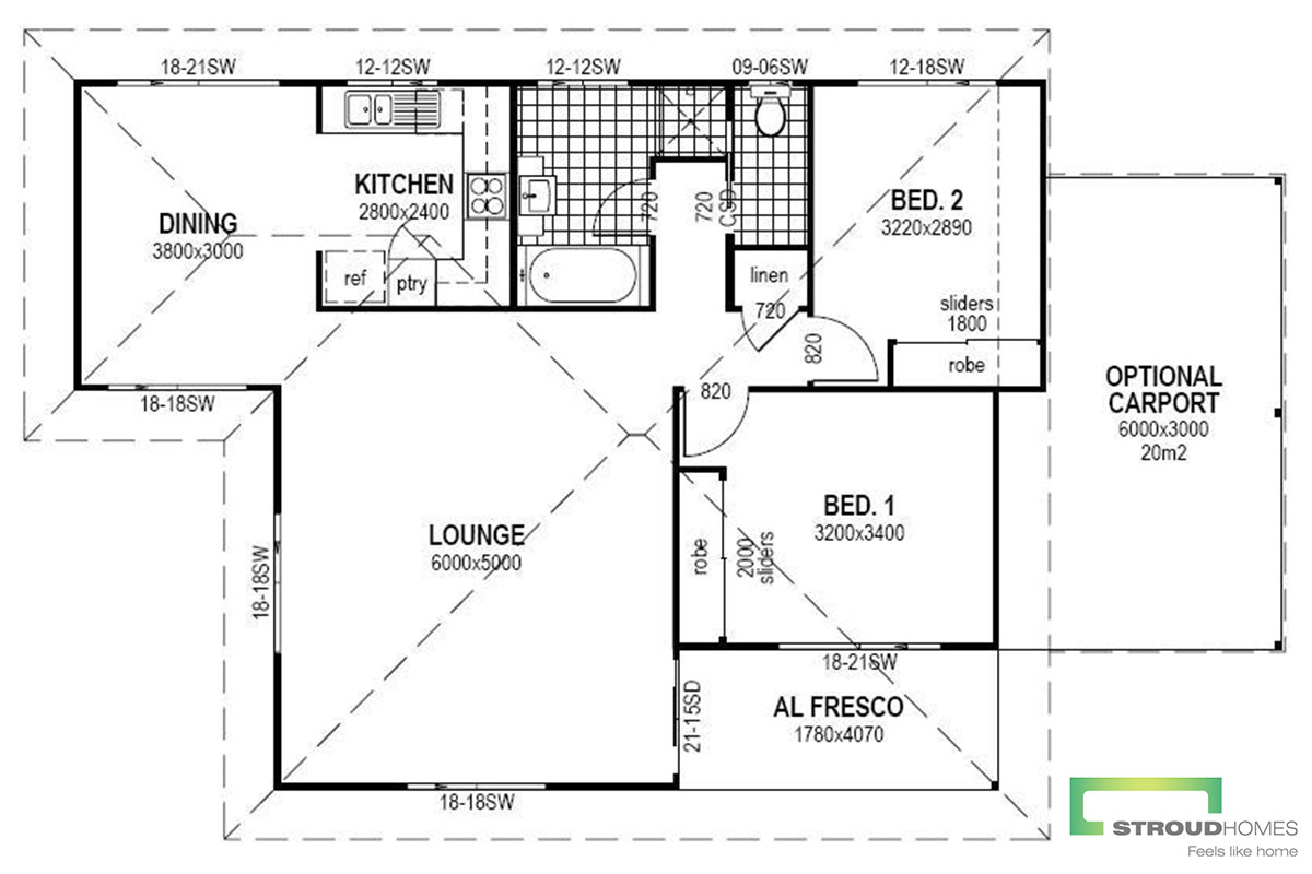 The Ruth Granny Flat Floor Plan