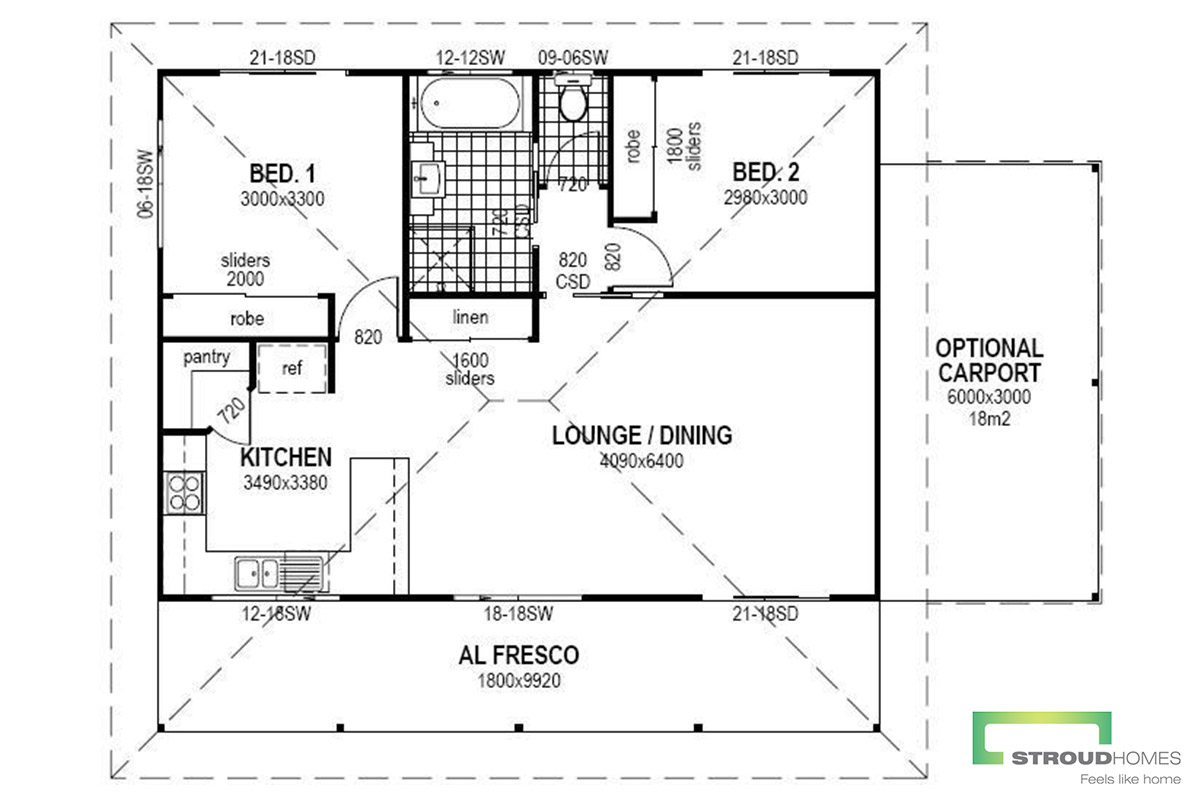 The Violet Granny Flat Floor Plan