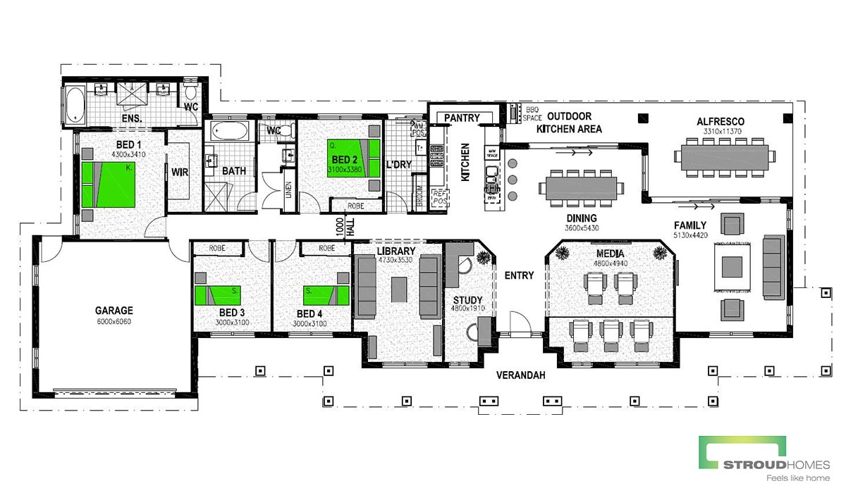 Vermilion 305 Floor Plan