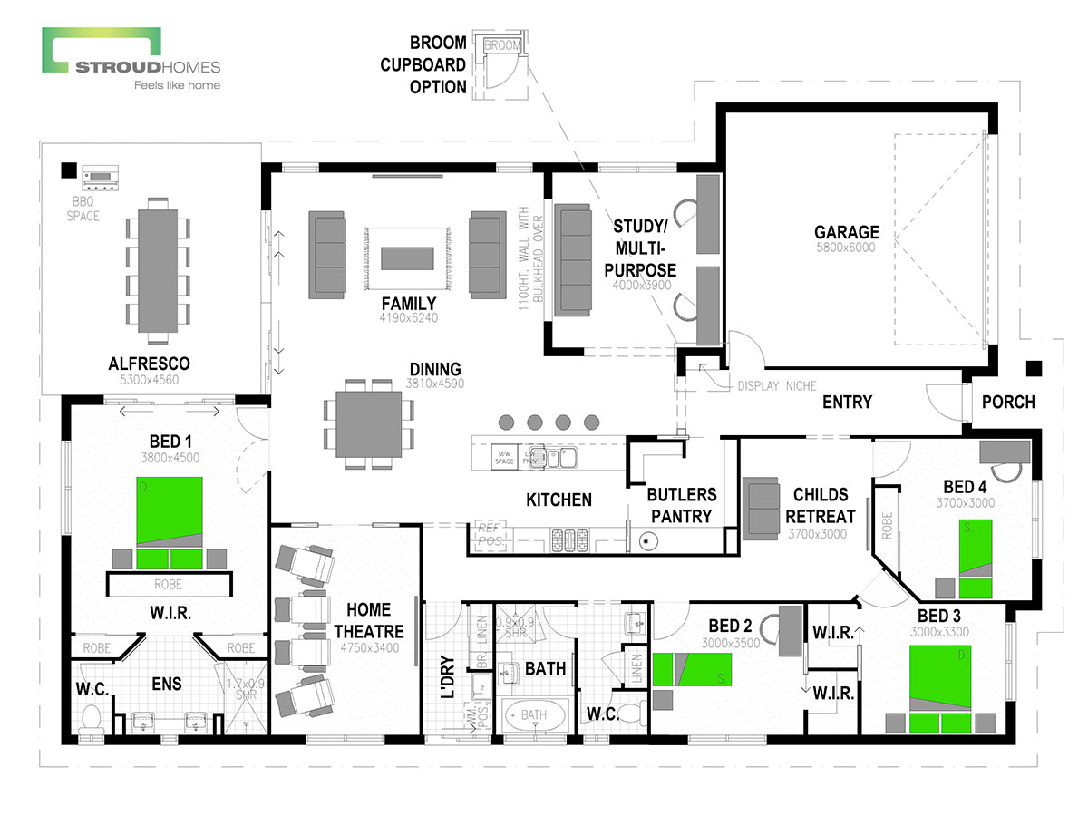 Wildflower 300 Floor Plan