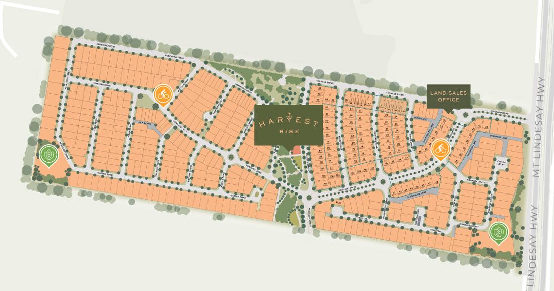 Harvest Rise Greenbank Estate Map