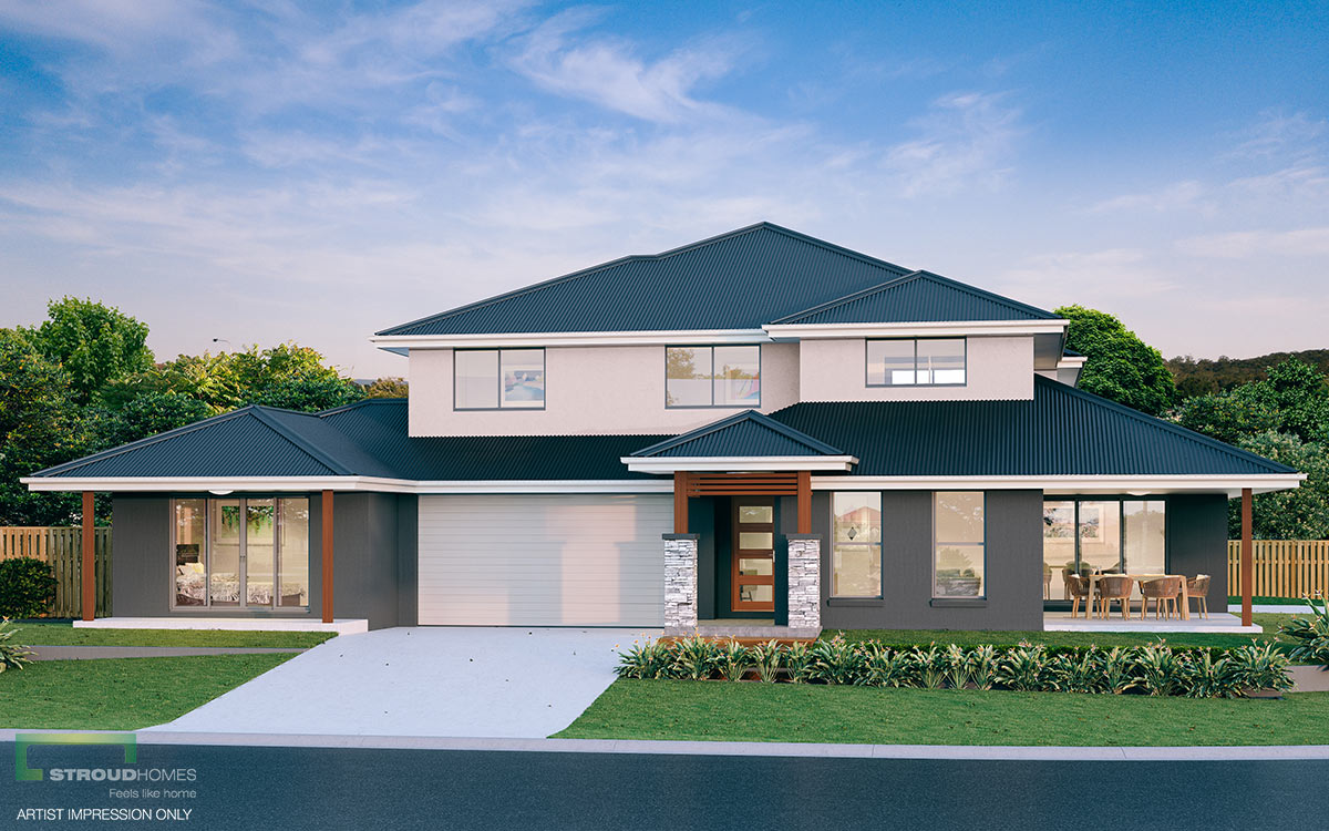 Two Storey Duplex Home Design: Burleigh 576 | Stroud Homes