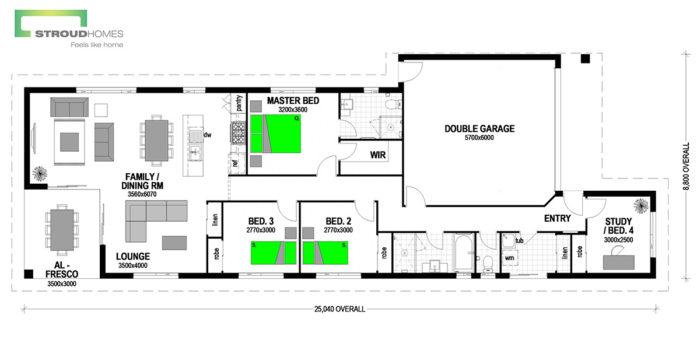 Willow 180 Classic Floor Plan