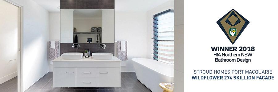 Stroud Homes Port Macquarie HIA Bathroom Design Award for Wildflower 274