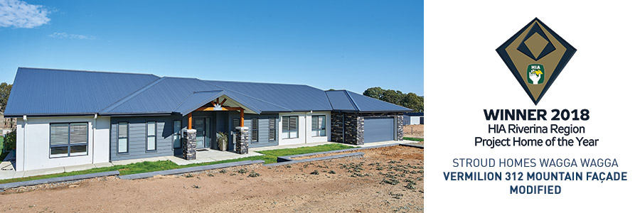 Stroud Homes Wagga Wagga HIA Award Project Home for Vermilion 312