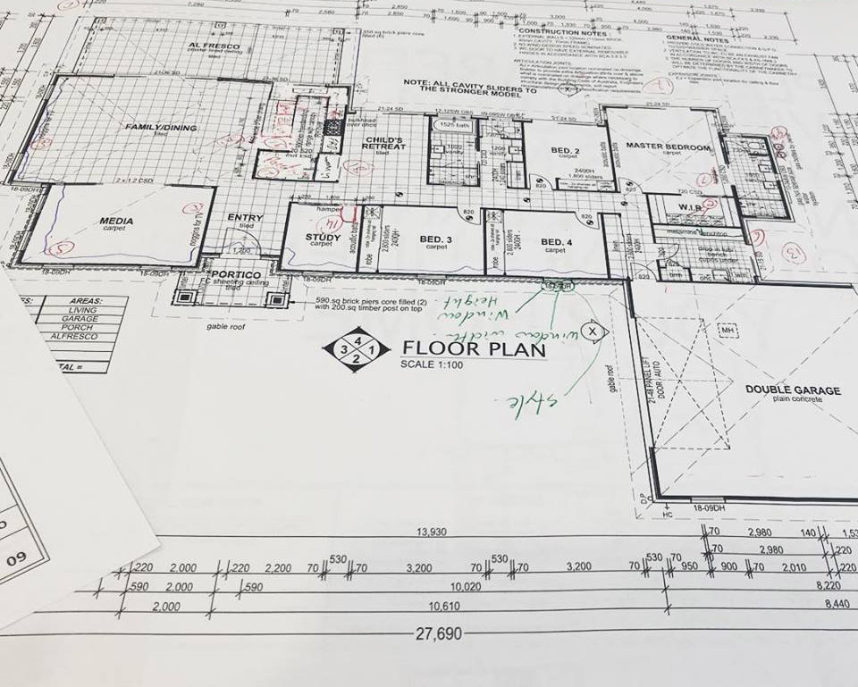 Stroud Homes Sunshine Coast Floor Plans with Changes