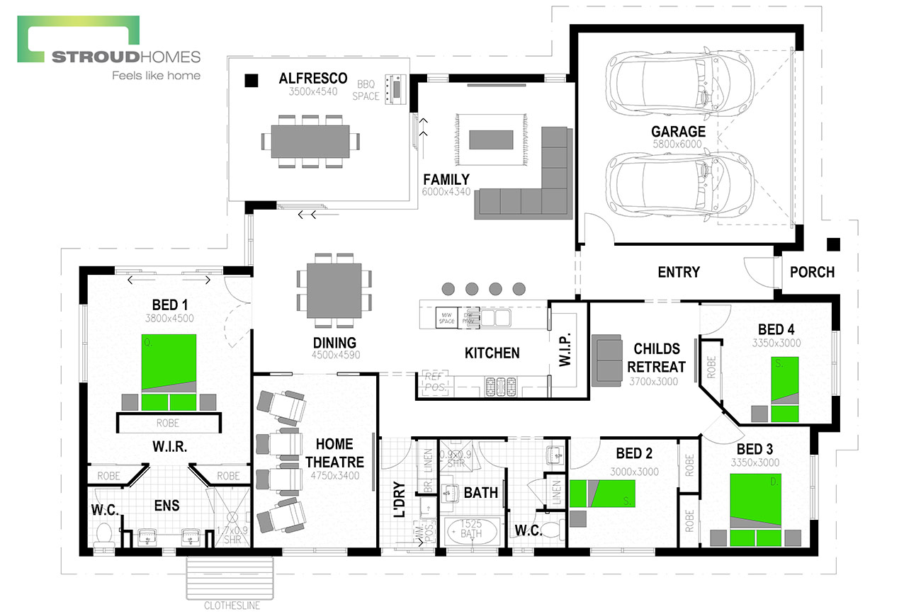 Wildflower 256 Floor Plan - Option One