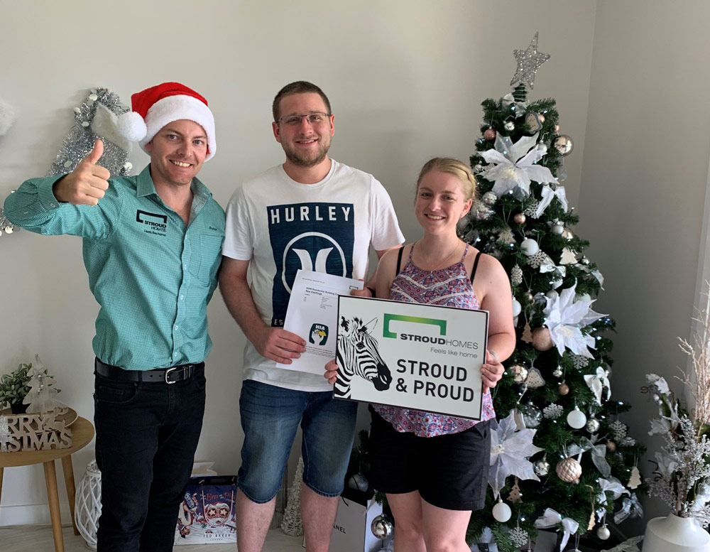 Peter with clients during Christmas time