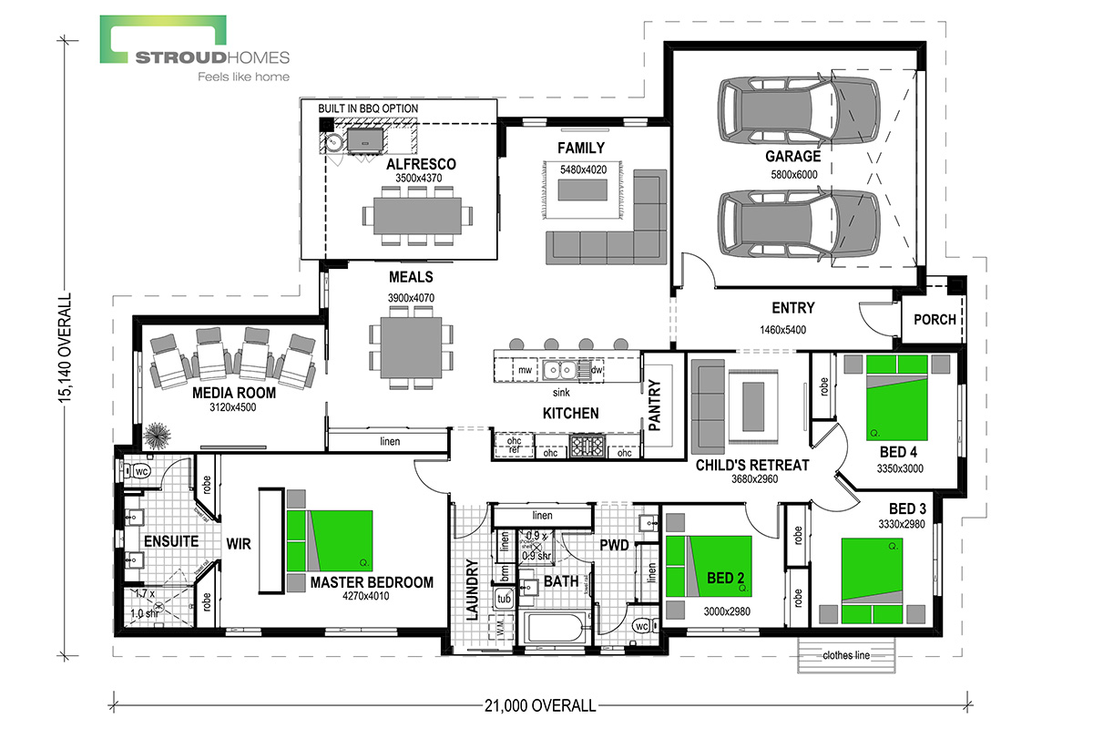 Wildflower 256 Floor Plan - Option Two