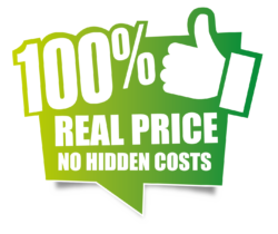 100% real prices. No hidden costs.