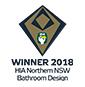 Stroud Homes Port Macquarie HIA Award Winner Bathroom Design for Wildflower 274 award logo