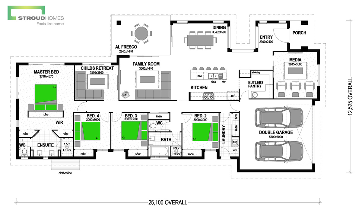 Waterlily 256 Classic Floor Plan