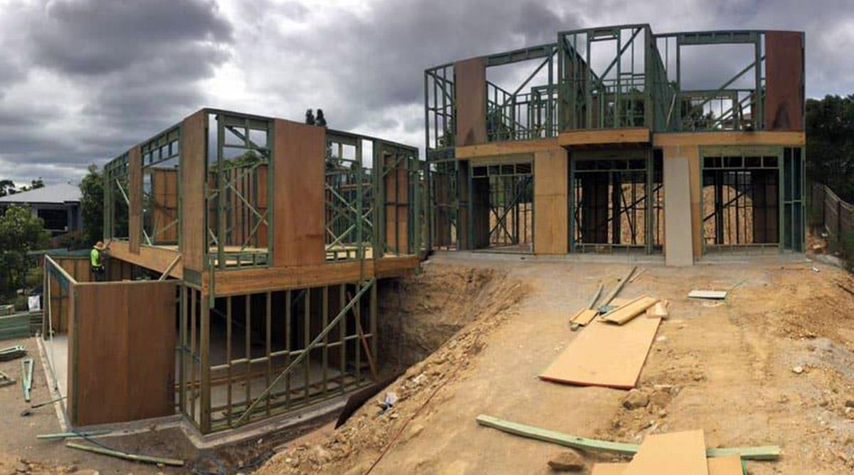 Custom home build multi level