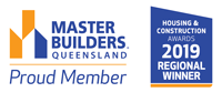 Stroud Homes 2019 Master Builders Wide Bay Burnett – Regional Award Winner – Individual Home (Up to $250,000) award logo