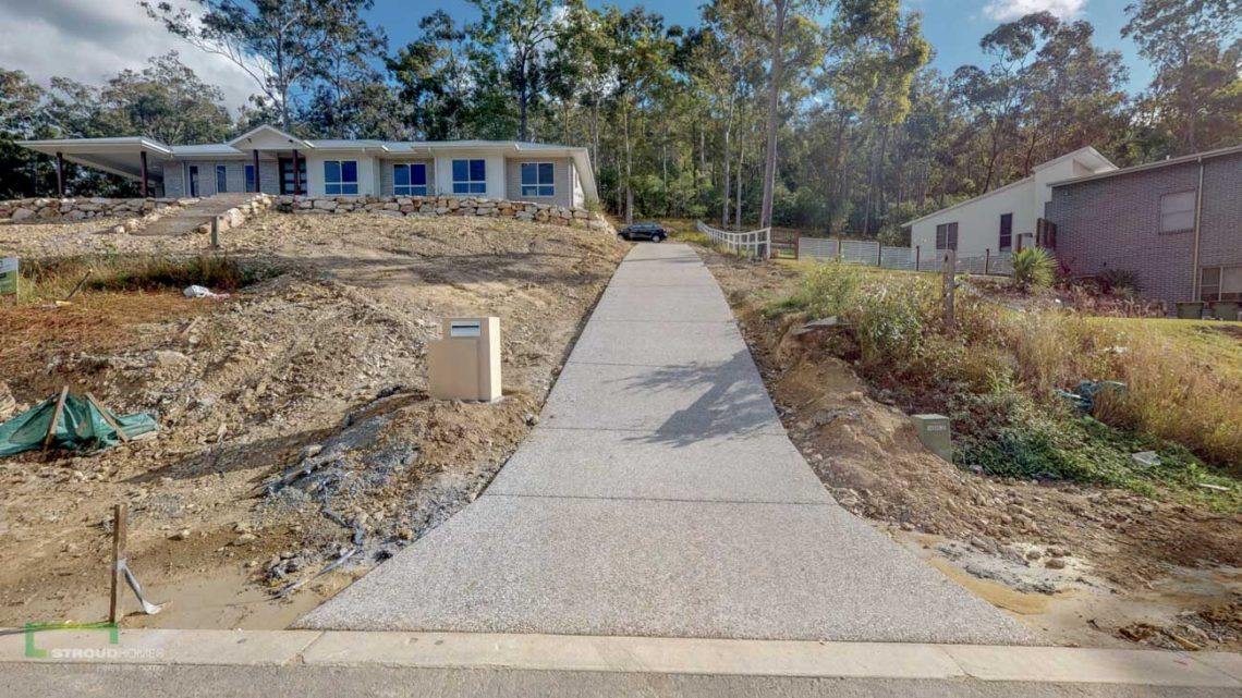 Stroud Homes Gold Coast North Acreage Sloped Block New Home Build-23
