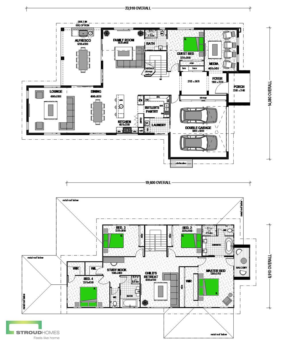 Kirra 400 Two Storey Classic Floor Plan