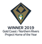 Stroud Homes Brisbane South 2019 HIA-CSR Queensland Housing Awards – Project Home Of The Year Brisbane South Beechmont 220 & GF Federation Façade award logo