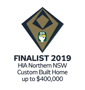 Stroud Homes Coffs Harbour 2019 HIA Northern NSW Housing Awards – Custom Built Home Up To $400,000 Finalist award logo