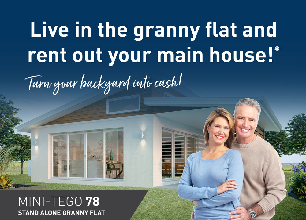 Granny flats for downsizing and renting main home