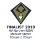 Stroud Homes Port Macquarie 2019 HIA Northern NSW Housing Awards  – Medium Kitchen Of The Year Finalist award logo