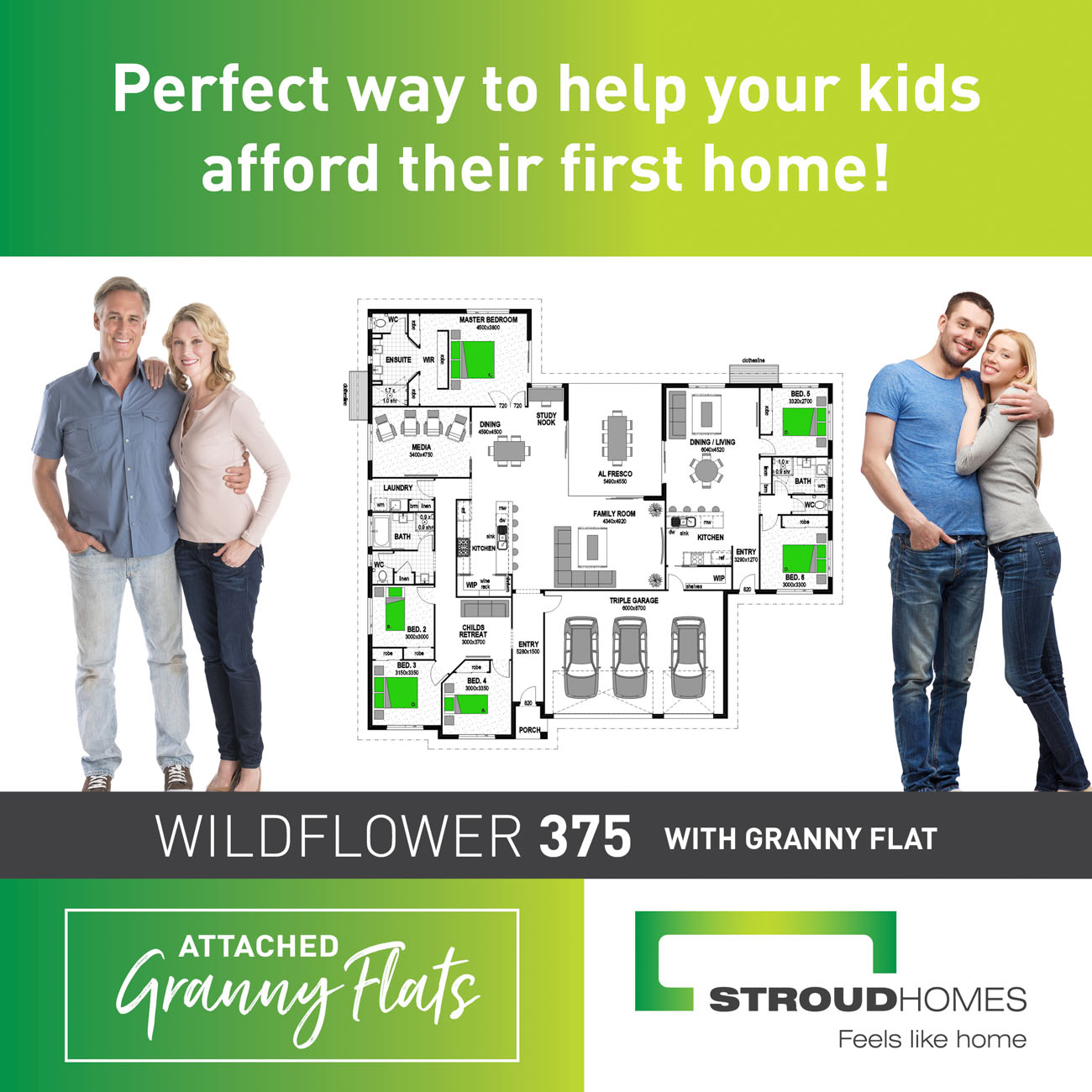 Attached granny flats for first home buyers