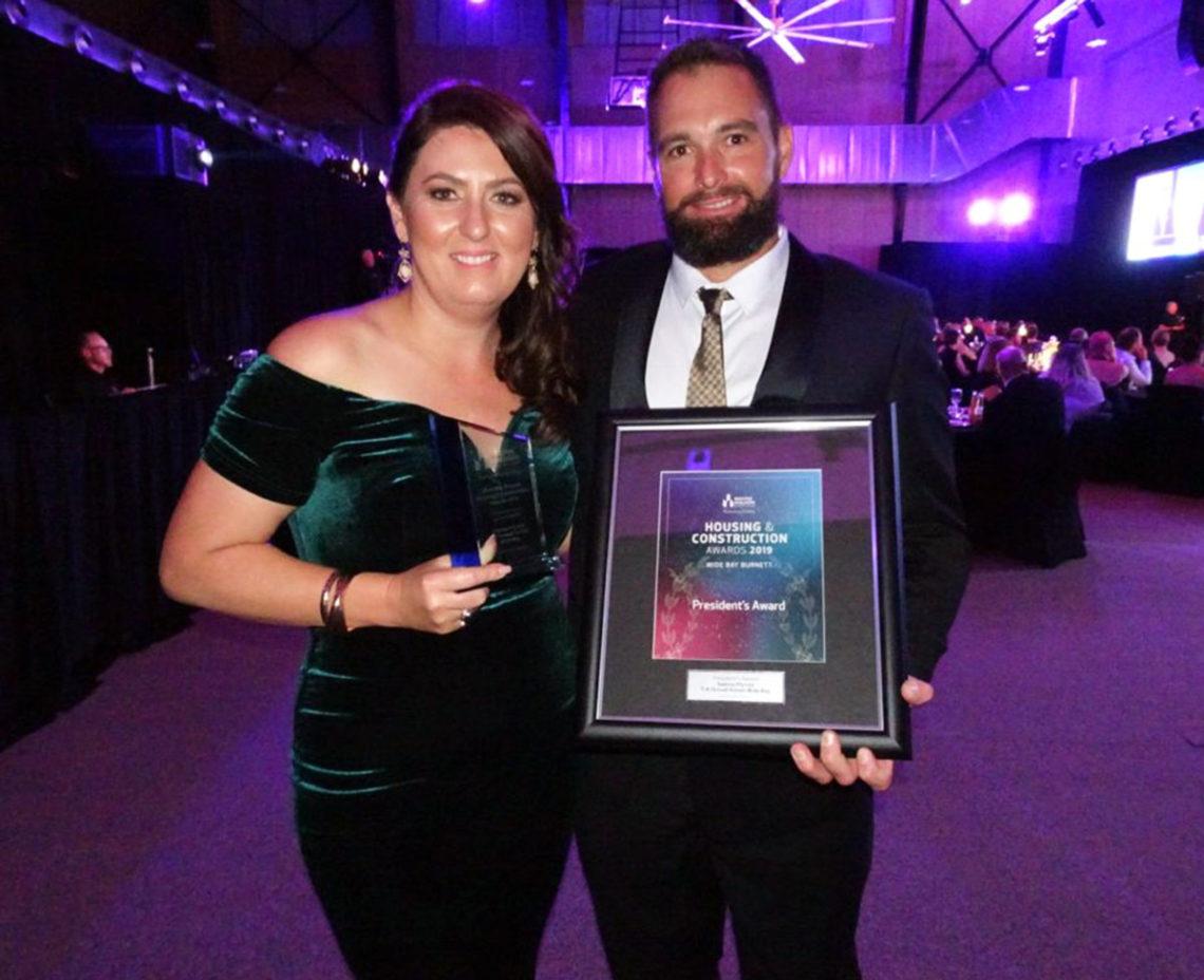 Stroud-Homes-Fraser-Coast-QLD-Master-Builders-Awards-2019-President-Award-Slade-&-Aletha