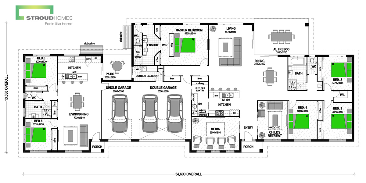 Inverell 394 with Granny Flat Classic Floor Plan